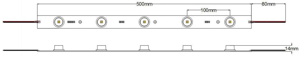 Barra LED rígida 11W – CREE
