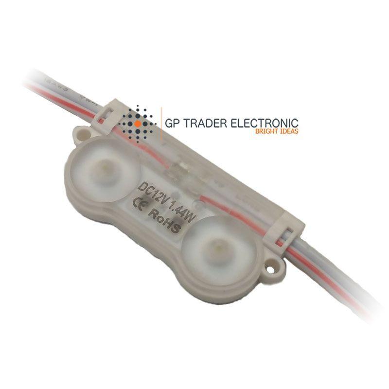 modulo led 2 diodos 170 grados perspectiva