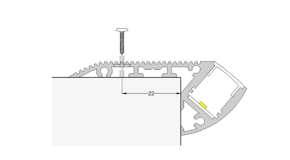 Esquema escalera 67mm con escalera y tornillo