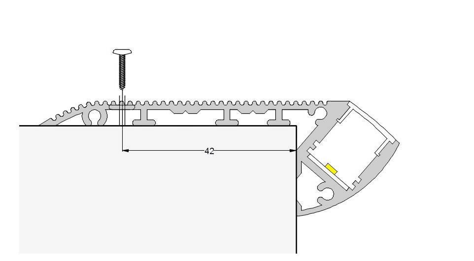 Esquema escalera 87mm con escalera y tornillo