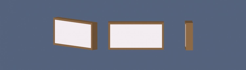 caja luz banner blue