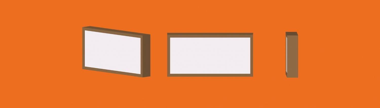 caja luz banner orange