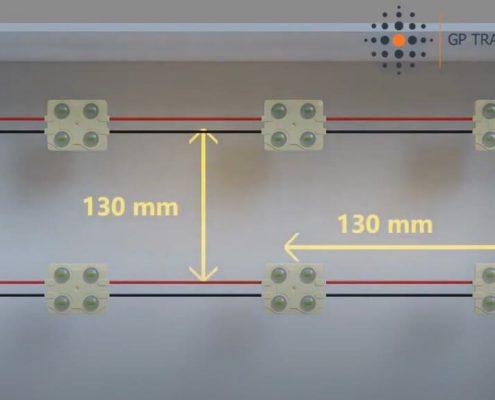 Cantidad de módulos de LED en una caja de luz